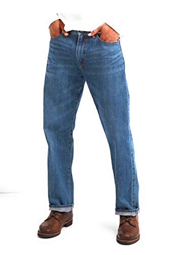GAP Men's Jeans in Relaxed Fit, Medium Authentic Indigo Wash, Non-Stretch ()