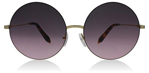 Victoria Beckham VBS118 C07 Dove Pink Feather Round Round Sunglasses Lens - Pink Beckham Sunglasses Victoria