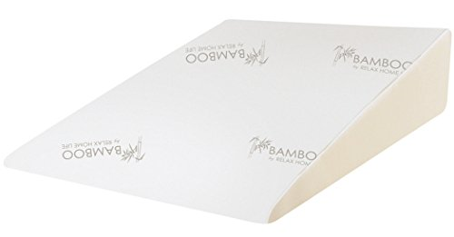 Relax Home Life - Foam Bed Wedge Bamboo Pillow With 1.5'' Memory Foam Topper and Stay Cool Removable Cover (26''W x 25''L x 7.5''H) by Relax Home Life