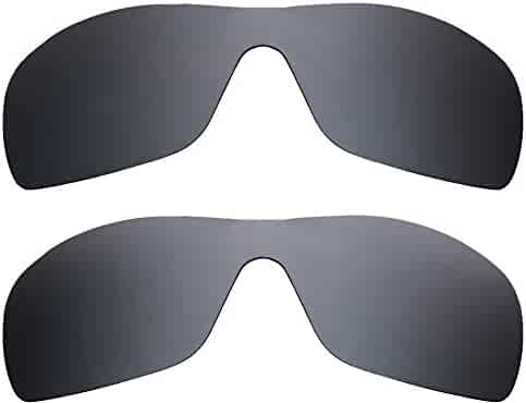 c505a5b018aed BATWOLF Replacement Lenses Polarized Black   Silver by SEEK fits OAKLEY