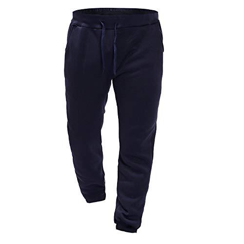 joggingbroek comfortabele broek broek casual voor kleur heren Frashing Effen sportbroek marine slip joggingbroek fit fitness Sportieve trekkoord casual slim txfwTT5z
