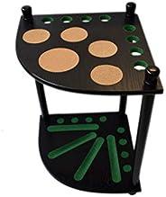 8 Pool Cue Rack - Billiard Cue Stick - Deluxe Floor Corner Cue Rack - Hold 8 Pool Cues, (Multiple Colors Avail
