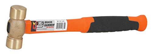 Performance Tool W1137 Solid Brass Hammer, 16 oz - Hammer Bit Part