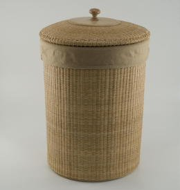Hamper laundry basket wicker hamper with lid beach bathroom decor nautical nantucket - Wicker laundry basket with liner and lid ...