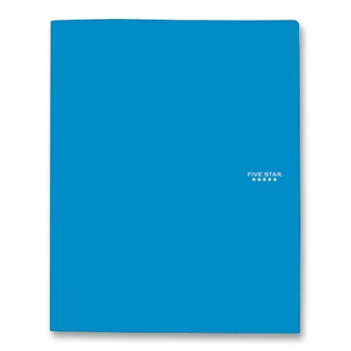 "043100340300 - Five Star Pocket Folder, 2 Pocket Stay-Put Plastic Folder, 11-5/8"" x 9-5/16"", Color Selected For You May Vary (34030) carousel main 0"