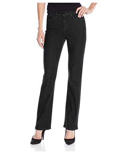 Women's Relaxed Fit Straight-Leg Jean Black 10