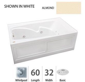"Cetra 60"" x 32"" Whirlpool Bathtub Color: White"