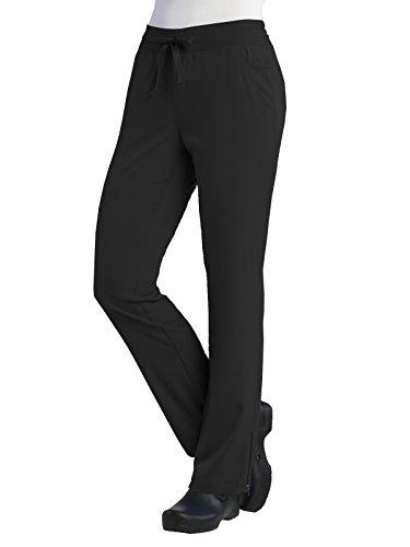 Maevn Women's PureSoft Adjustable Flare Yoga Pant(Black, Medium Petite)