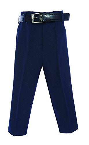 Bella Blue Dresses (Bello Giovane Boys Flat Front Dress Pants with Belt (2T, Navy))