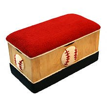 Newco Wooden Toy Box - Baseball