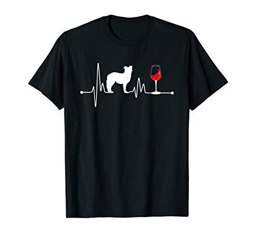 Australian Shepherd Heartbeat Shirt Ekg Wine Lover Aussie (Best Australian Wine Under $20)