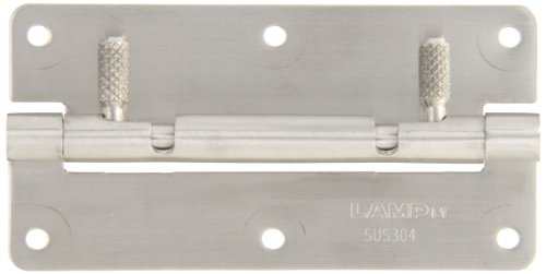 Sugatsune HG-OTA100 Stainless Steel 304 Quick Release Hinge with Screw Holes, Satin Finish, 50mm Open Width, 6mm Pin Diameter, 100mm Height