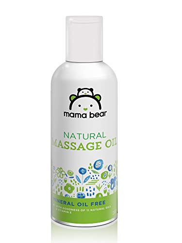 Amazon Brand – Mama Bear Natural Baby Massage Oil – 200 ml
