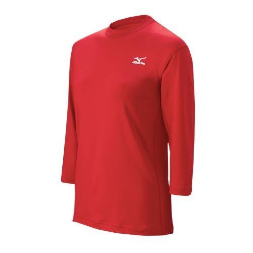 Mizuno Men's 3/4 Premier Stretch Sleeve Shirt (Red, Medium)