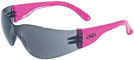 Global Vision Eyewear Rider Safety Glasses with Neon Pink Frames