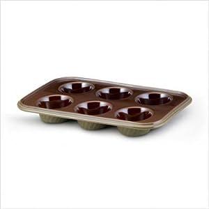 Paula Deen Stoneware 6 Cup Muffin Pan