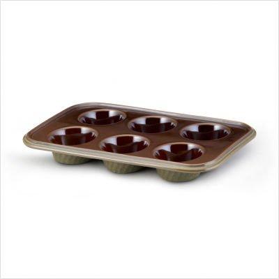 - Paula Deen Stoneware 6 Cup Muffin Pan