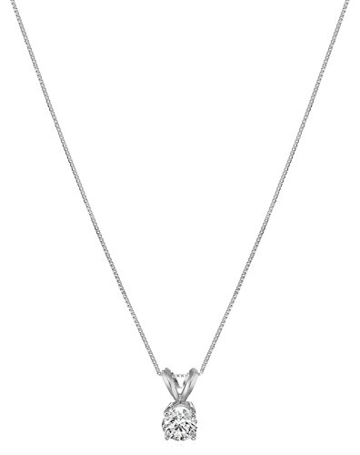 IGI Certified 14k Gold Lab Created Diamond Pendant Necklace (I J Color, SI1 SI2 Clarity), 18""