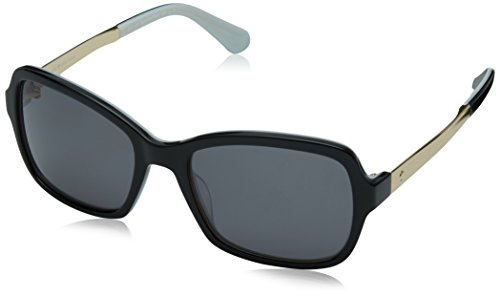 - Kate Spade New York Womens Annjanette/S Black White/Grey Polarized One Size One Size