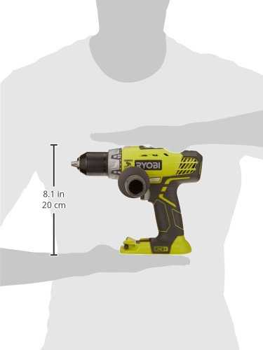Ryobi P214 One+ 18 Volt Lithium Ion 1/2 Inch, 600-Pound Torque Hammer Drill (Batteries Not Included/Power Tool Only)