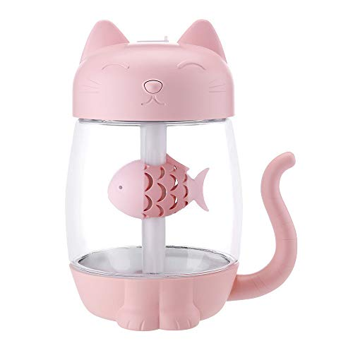 PENATE Creative Humidifier with LED Night Light with Fan Mini Portable USB Baby Kid Cartoon Animal Bedroom Healthy Air Diffuser Purifier Auto Hotel Office Home Decor Atomizer