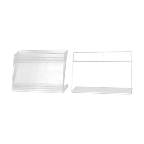 Rectangle Advertising Magnets (Pyuang Rectangle Clip Menu Brochure Display Holder 9cm x 6cm 5pcs Clear)