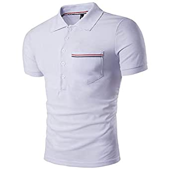 Polo Polo De Golf De Manga Corta para Hombre De Slim Fit Polo Golf ...
