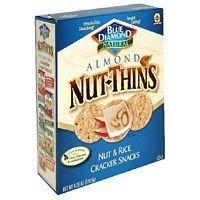 Blue Diamond Almond Nut Thin Crackers 4.25 Oz (Pack of 12)