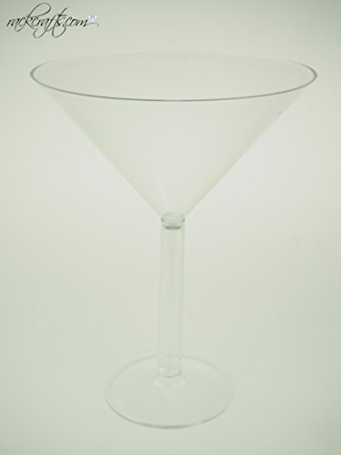 rackcrafts.com Jumbo Giant Large Big Plastic Wine Champagne Martini Margarita Cups Glass Drink (Martini) (Big Plastic Margarita Glasses)