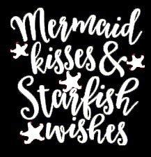 Makarios LLC Mermaid Kisses Starfish Wishes Cars Trucks