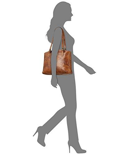 Patricia Nash, Borsa a spalla donna arancione Rust