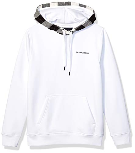 Calvin Klein Men's Fleece Hoodie Logo Pop Over Sweatshirt