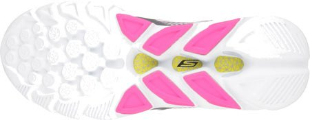 Skechers Go Run Vortex - Zapatillas de running Mujer gris oscuro/rosa