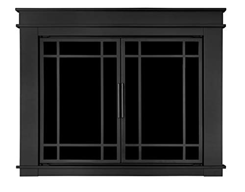 - Pleasant Hearth Fillmore Glass Firescreen, Width: 36
