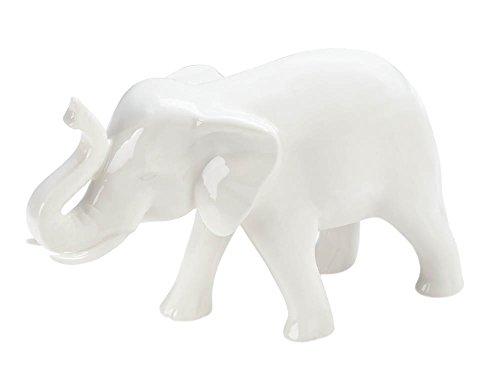 Small White Ceramic Elephant -