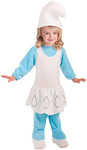 Faerynicethings Toddler size Smurfette Costume - Blue Smurf - Toddler 2-4 -