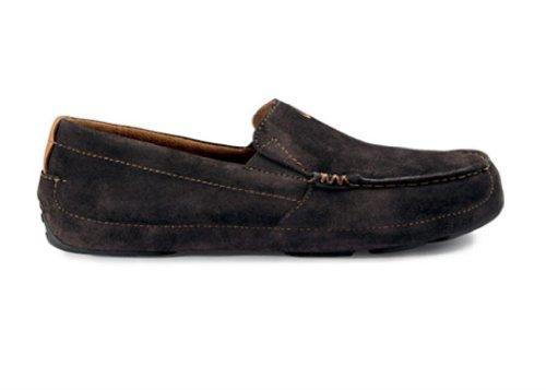 OLUKAI Akepa Moc – Mens Comfort Shoe Espresso/Espresso – 11