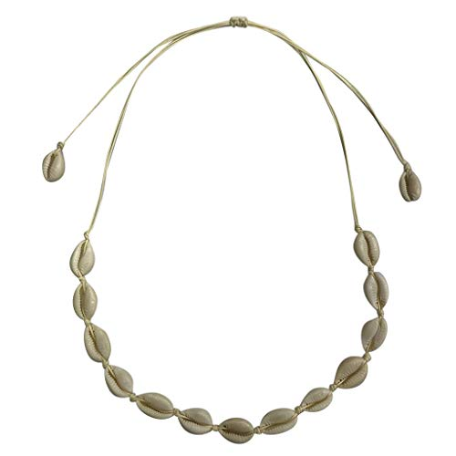 CCFAMILY Ladies Jewelry Bohemian Retro Natural Freshwater Shell Rope Necklace