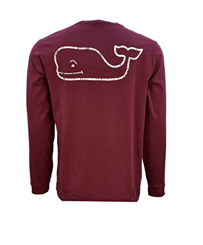 (Vineyard Vines Mens LS Vintage Whale Pocket TEE (XX-Large, Vintage Whale Crimson))
