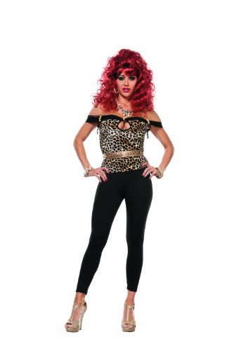 Peggy Bundy Halloween Costumes (Starline Women's Bundy Housewife Sexy 3 Piece Costume Set, Bronze/Black, Small)