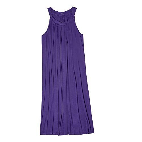 Carole Hochman Midnight Women's Maxi Gown, Plum, Petite XL