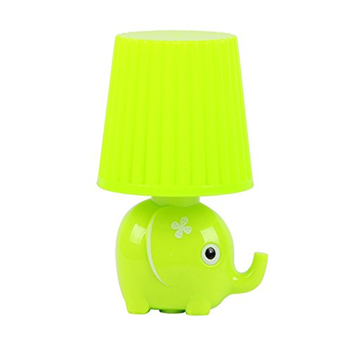 LED Plug in Night Light for Kids-Elephant Intelligent Light Sensor Auto Control LED Wall Lamp for Baby Child Nursery(Elephant-Green)