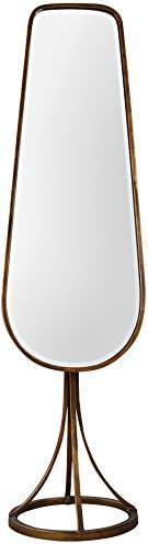 Uttermost 09142 Gavar Antiqued Gold Leaf Cheval Mirror