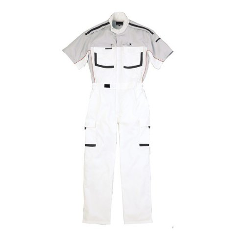 kurehifuku(クレヒフク)半袖つなぎ ピットスーツ カジュアル 半袖ツナギ kr-kr903 B01N6X45PU 4L|ホワイト ホワイト 4L