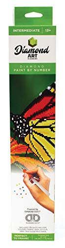 Leisure Arts - Diamond Art Sparkle Art Diamond Paint by Number Monarch Butterfly Kit - 5D Pixel Painting DIY Arts and Crafts for Kids Canvas Wall Decor