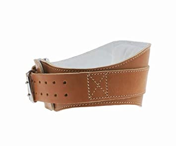 4.75 Power Leather Lifting Belt in Natural Leather Size XXL 44 – 50