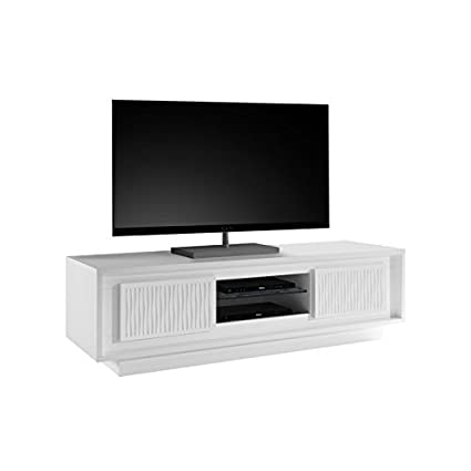 Mueble TV 2 puertas relieve bandas onduladas – Rimini – L 156 x l 50 x H