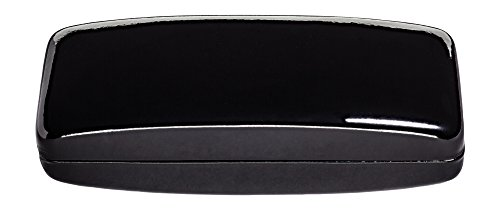 Hard Eyeglass Case, Glasses Holder For Women And Men- Shiny Patent Leather, Black