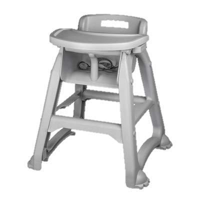 Plastic High Chair Gray