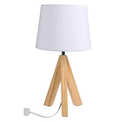 'Out of the Blue 571285, lámpara de mesa con pies de madera modelo 1, aprox. 36 cm, madera, color blanco, 20 x 20 x 36 cm a buen precio